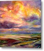 Sunrise And Tide Pool Metal Print