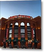 Sunrise At Busch Stadium Metal Print