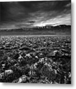 Sunrise At Devil's Golf Course, Death Valley, Deat Metal Print by David Kiene