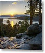 Sunrise At Emerald Bay In Lake Tahoe Metal Print