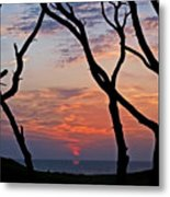 Sunrise At Fort Fisher Metal Print