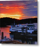Sunrise At Friday Harbor Metal Print