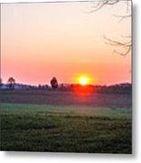 Sunrise At Gettysburg Metal Print