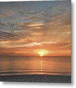Sunrise At Hollywood Beach Metal Print