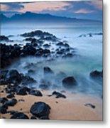 Sunrise At Ho'okipa - Sunrise At Hookipa Beach In Maui Metal Print