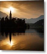 Sunrise At Lake Bled Metal Print