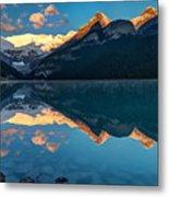 Sunrise At Lake Louise, Banff National Park, Alberta, Canada Metal Print