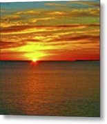 Sunrise At Matane Metal Print
