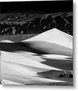 Sunrise At Mesquite Flat Sand Dunes Panorama Metal Print