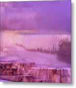 Sunrise At Minerva Springs Yellowstone National Park Metal Print