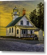Sunrise At Mission Point Light Metal Print