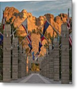 Sunrise At Mount Rushmore Promenade Metal Print