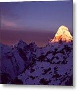 Sunrise At Mt. Ama Dablam Metal Print