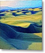 Sunrise At Oceano Sand Dunes  Metal Print