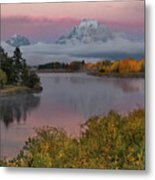 Sunrise At Oxbow Bend Metal Print
