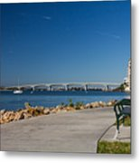 Sunrise At Ringling Bridge Metal Print