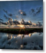 Sunrise At Sabine Pass Metal Print