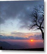 Sunrise At Saddle Overlook Metal Print