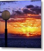 Sunrise At Sea Off The Delmarva Coast Metal Print