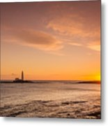 Sunrise At St Mary's Lighthouse Metal Print