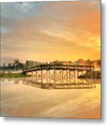 Sunrise At Sunset Lake Metal Print