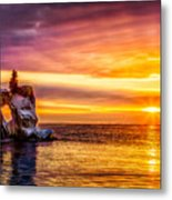 Sunrise At The Arch Metal Print