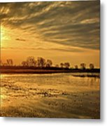 Sunrise At The Big Marsh Metal Print