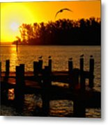 Sunrise At The Boat Launch  Metal Print