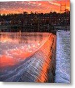 Sunrise At The Dam Metal Print
