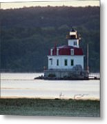 Sunrise At The Esopus Lighthouse Metal Print