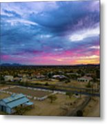 Sunrise At The Horse Barn Metal Print
