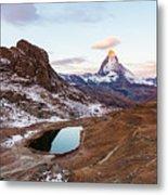 Sunrise At The Matterhorn Mountain Area Metal Print