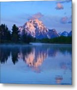 Sunrise At The Oxbow Metal Print