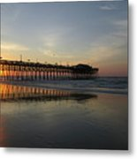 Sunrise At The Pier Metal Print