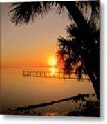 Sunrise At The Pier Metal Print
