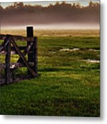 Sunrise At The Ranch Metal Print