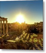 Sunrise At The Ruins Metal Print