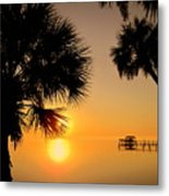 Sunrise At The Space Coast Fl Metal Print