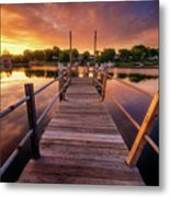 Sunrise By The Ramp Metal Print