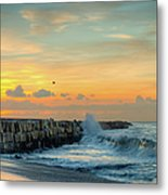 Sunrise California Coast Metal Print