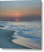 Sunrise - Cape May Beach Metal Print