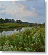 Sunrise Clouds Above Glacial Park's Nippersink Creek Metal Print