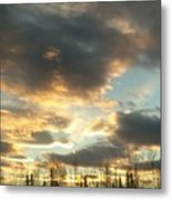 Sunrise Cloudscape Metal Print