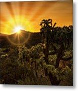 Sunrise Done With An Arizona Flare Metal Print