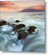 Sunrise Drain Metal Print
