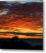 Sunrise Drama By The Sea Metal Print