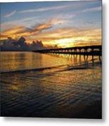 Sunrise Fort Clinch Pier Metal Print