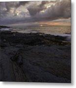 Sunrise From Beavertail In Jamestown Rhode Island Metal Print
