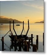 Sunrise From Governors Bay Metal Print by Barry Culling
