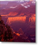 Sunrise From Mather Point Metal Print